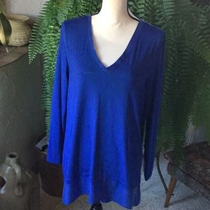 NWOT Gorgeous Cobalt Blue V-neck Top